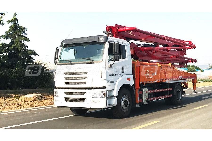 青岛科尼乐CA5210P2K15BE5A80一汽解放33米混凝土泵车