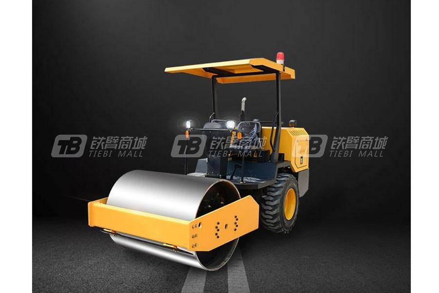 杰工3.5T后胶轮压路机双钢轮压路机