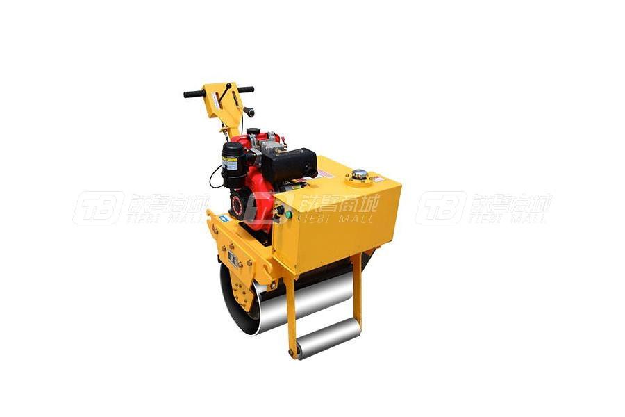 杰工手扶600单轮柴油单钢轮压路机