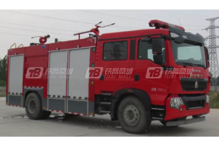 江特重汽单桥干粉水联用消防车
