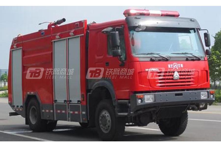 江特重汽四驱6吨水罐(泡沫)消防车