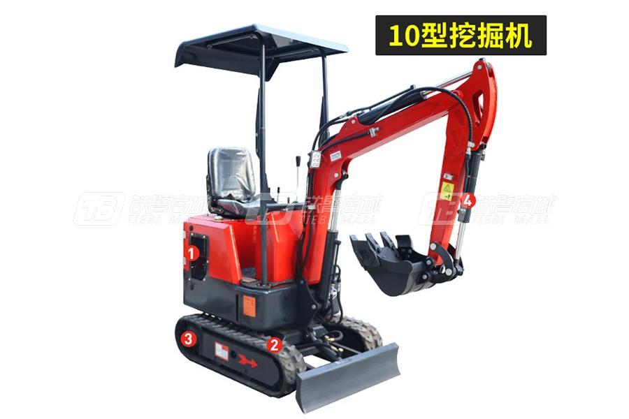 岳工YGW-10履带小型挖掘机