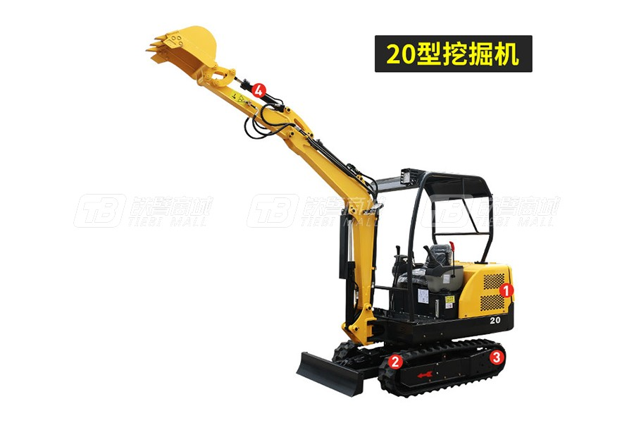 岳工YGW-20履带小型挖掘机
