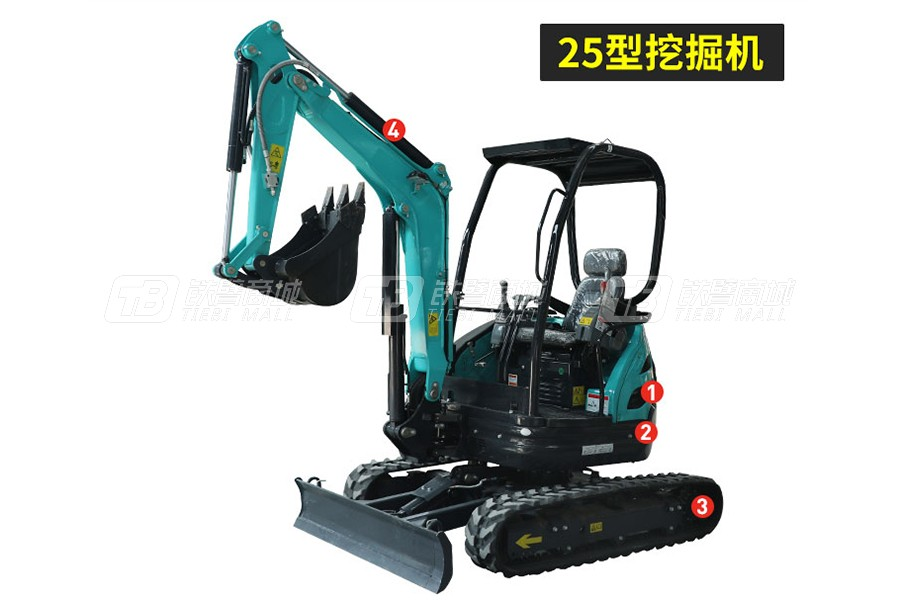 岳工YGW-25Y履带小型挖掘机