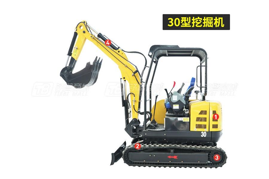 岳工YGW-30履带小型挖掘机