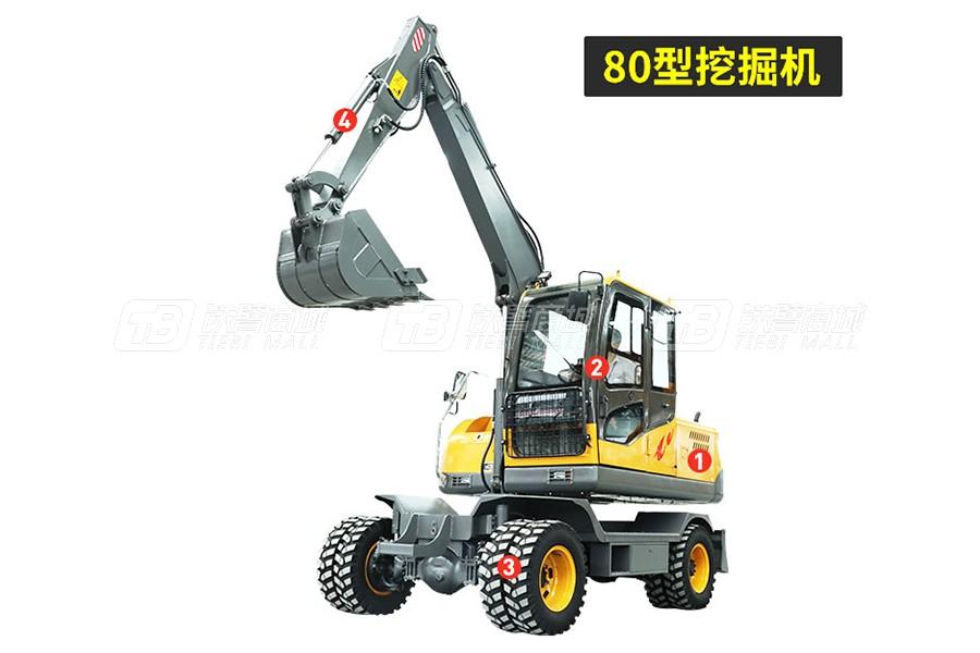 岳工YGW-80轮式挖掘机