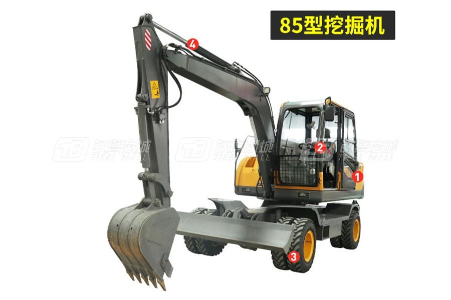 岳工YGW-85轮式挖掘机