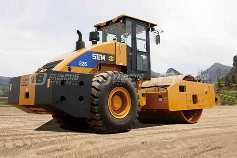 山工SEM526单钢轮压路机