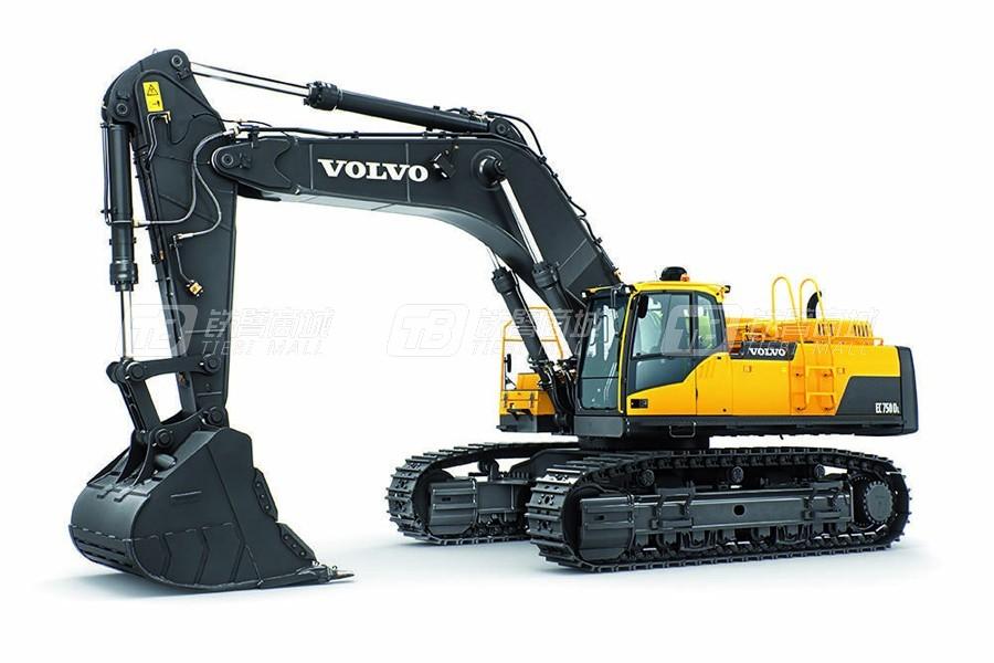 沃尔沃EC750DL大型履带式挖掘机