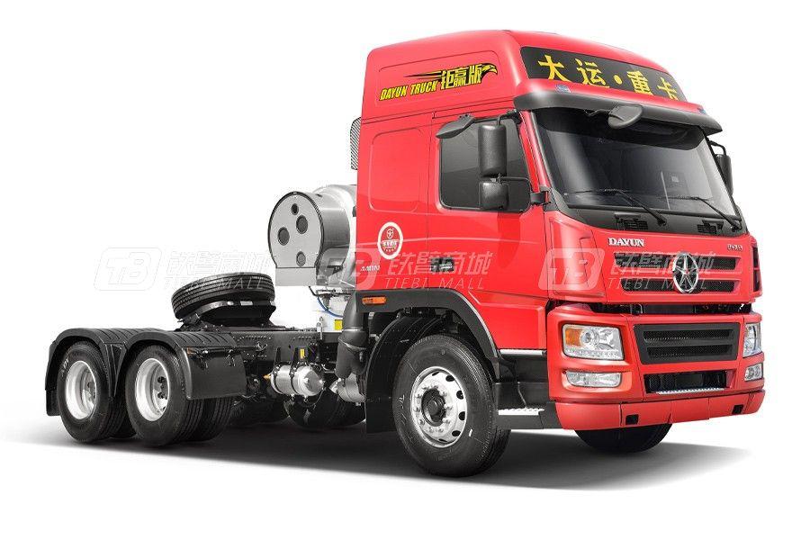 大运新N8E 钜赢2.0版6x4 430马力LNG牵引车