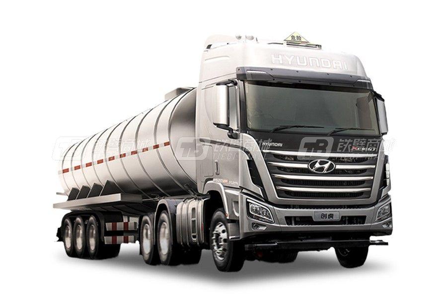 现代商用车创虎 6x4 440马力 危险品运输牵引车