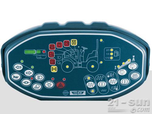 悍马HD13VV双钢轮压路机外观图2
