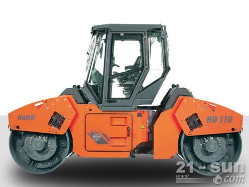 悍马HD110双钢轮压路机外观图1
