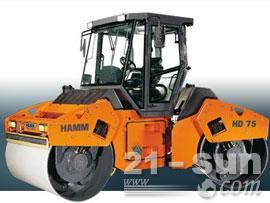 悍马HD75双钢轮压路机