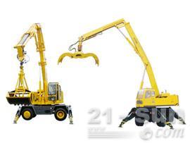 八达重工QLYS6DZ双动力液压轮胎式折叠臂抓斗起重机
