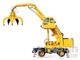 八达重工QLYS15DZ双动力液压轮胎式折叠臂抓斗起重机