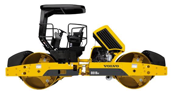 沃尔沃DD118HF双钢轮压路机