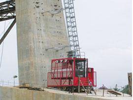 广州京龙倾斜式施工升降机