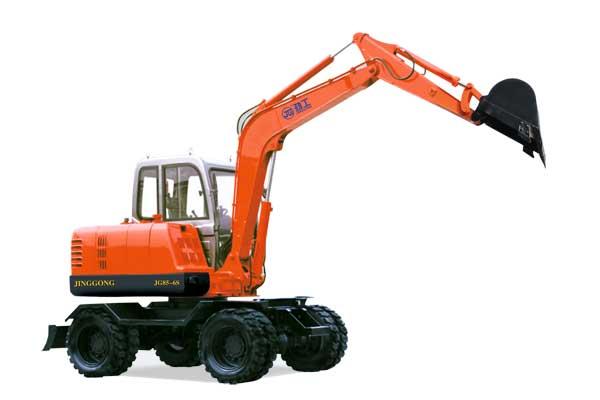 劲工JG85-6S轮式挖掘机