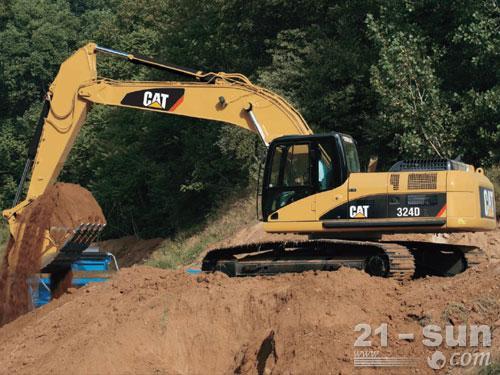 卡特彼勒324D挖掘机外观图1
