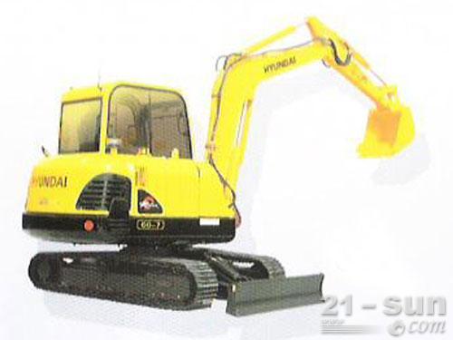 现代R60-7挖掘机外观图1