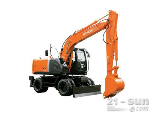 日立ZX140W-3轮式挖掘机外观图3