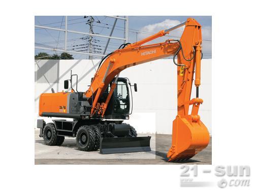 日立ZX210W-3轮式挖掘机外观图1