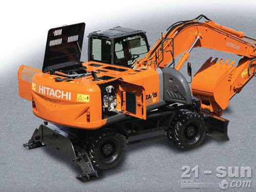 日立ZX210W-3轮式挖掘机外观图5