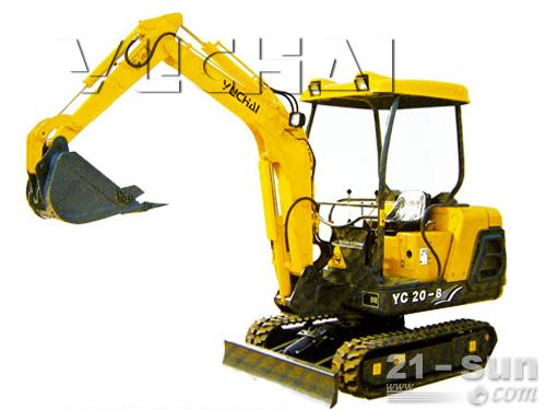 玉柴YC230LC-8挖掘机外观图1