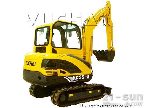 玉柴YC35-8挖掘机外观图1