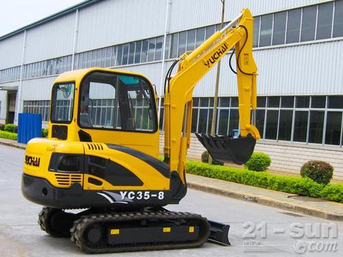 玉柴YC35-8挖掘机外观图2