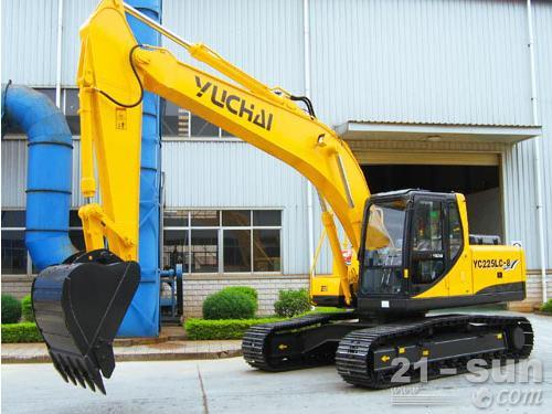 玉柴YC230LC-8挖掘机外观图4