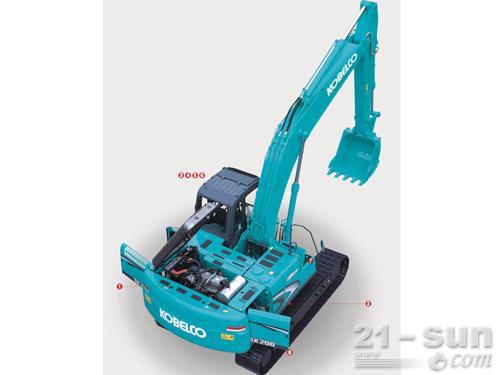 神钢SK200-8挖掘机外观图5
