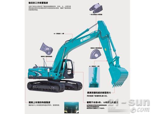 神钢SK210LC-8挖掘机外观图2