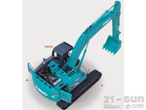 神钢SK210LC-8挖掘机外观图3