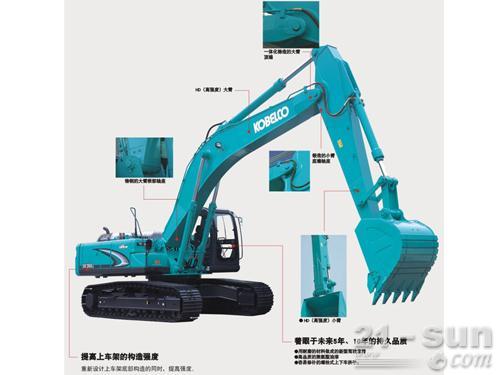 神钢SK350LC-8挖掘机外观图2