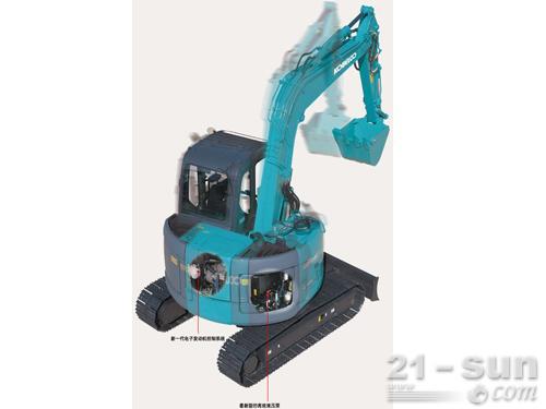 神钢SK70SR-2挖掘机外观图1