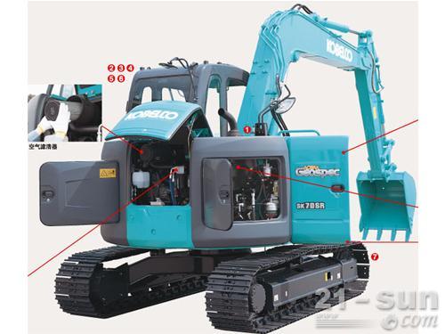 神钢SK70SR-2挖掘机外观图4