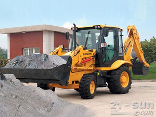 柳工CLG766挖掘装载机外观图1