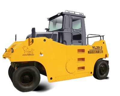 常林公司YL20-3轮胎压路机