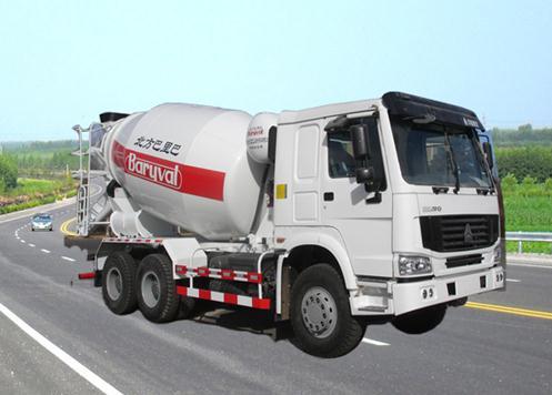 巴里巴BZ5255GJB(重汽豪泺三桥12m3)混凝土搅拌运输车