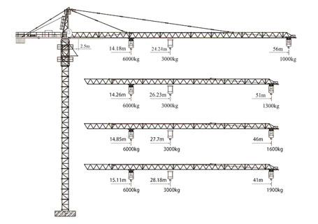 徐工qtz63(5610y-6)塔顶式塔机