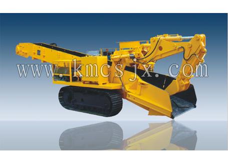 穿山机械LDZ120履带式挖斗装渣机