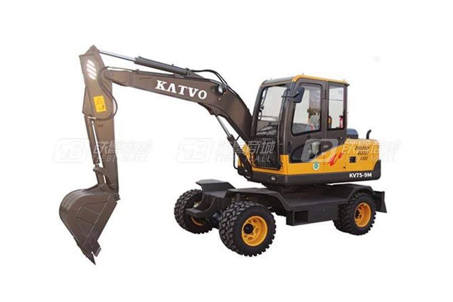 凯迪沃7吨柱塞泵小型轮式挖掘机