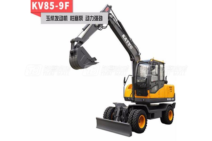 凯迪沃8吨负载敏感系统轮式挖掘机