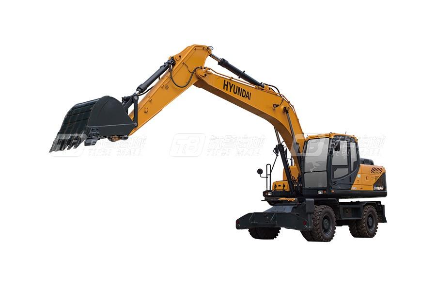 现代R210WVS轮式挖掘机