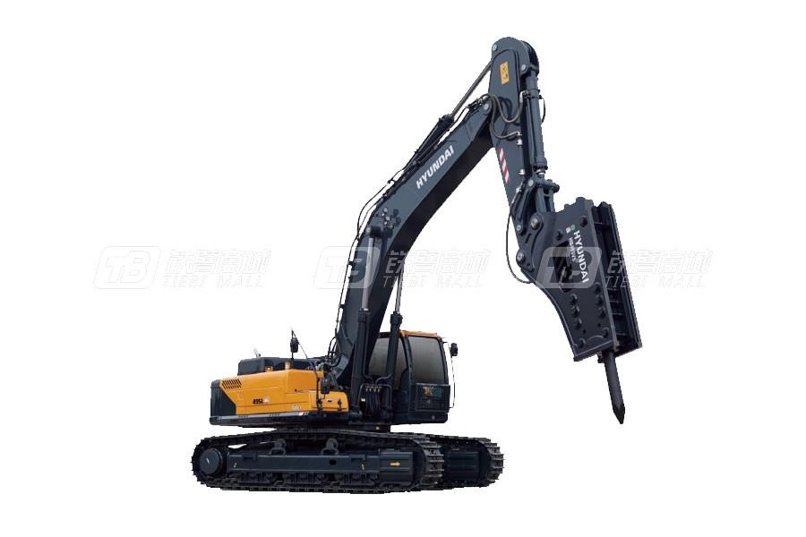 现代R495LVS破碎作业专用中大型挖掘机
