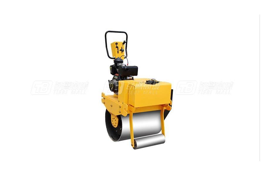 杰工手扶700单轮单钢轮压路机