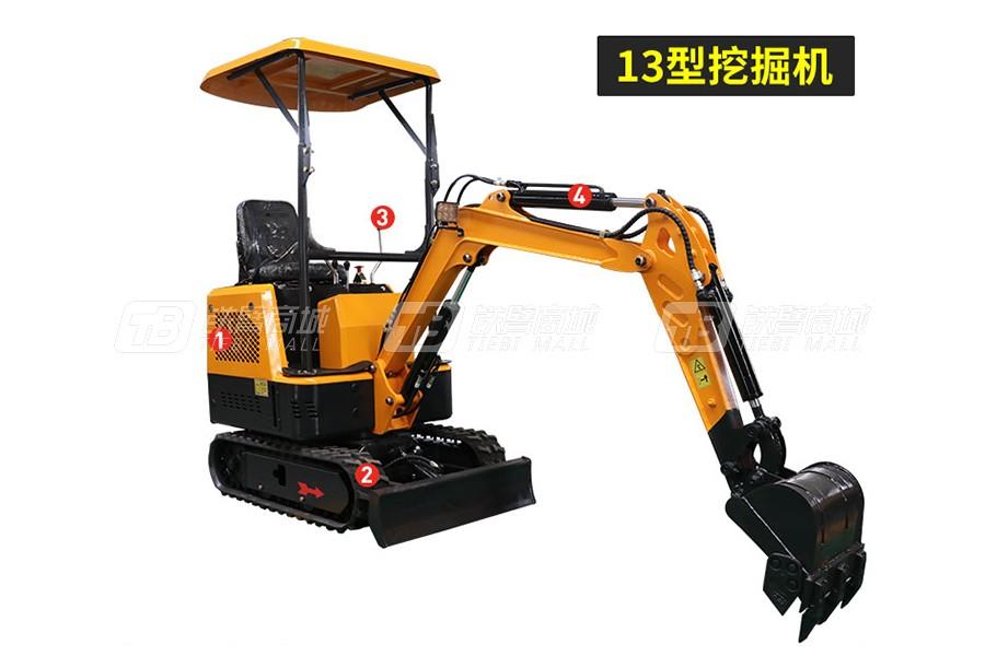 岳工YGW-13履带小型挖掘机