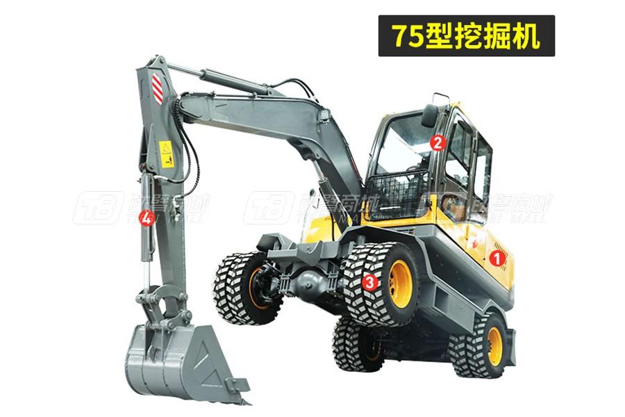 岳工YGW-75轮式挖掘机